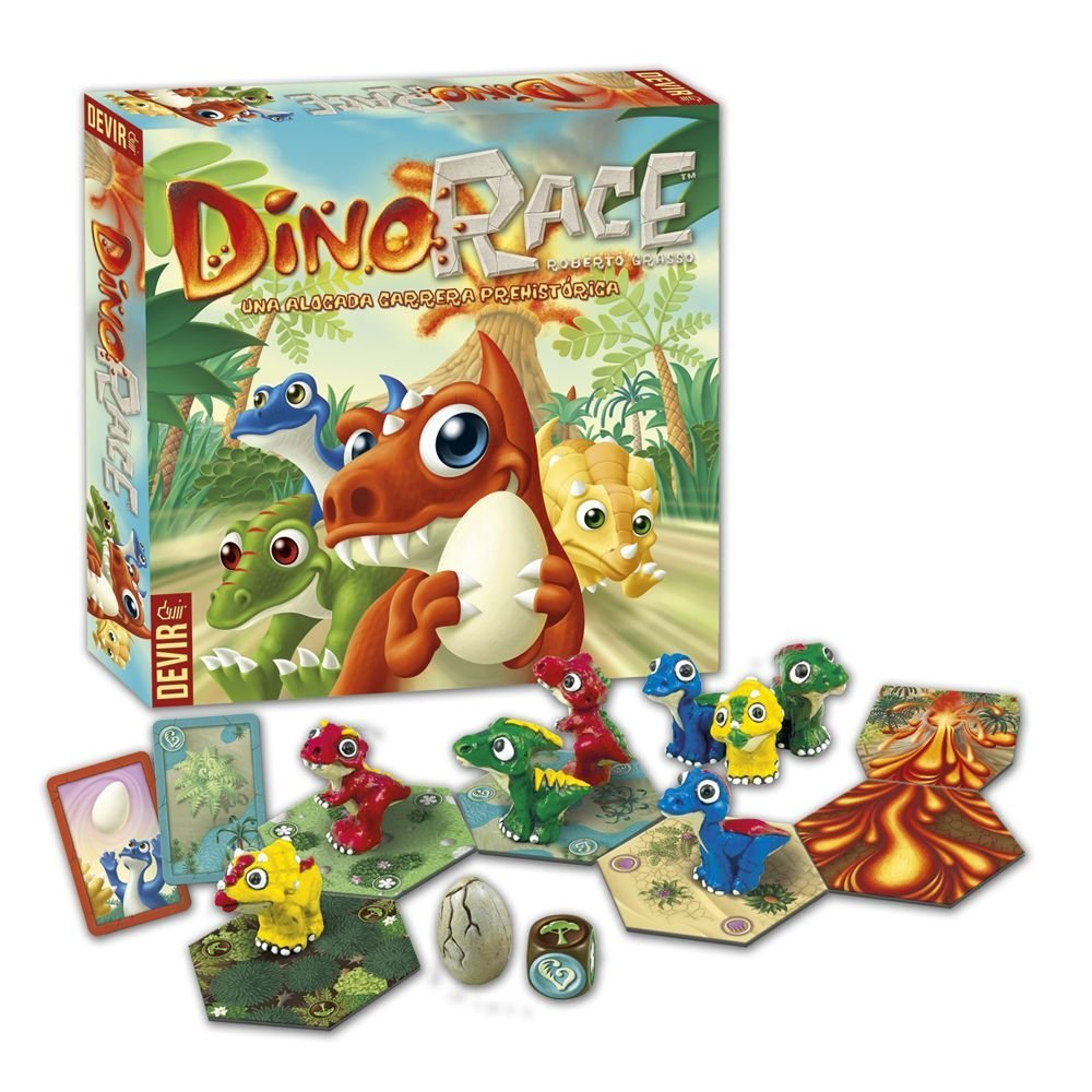 Juego de mesa infantil Dino Race